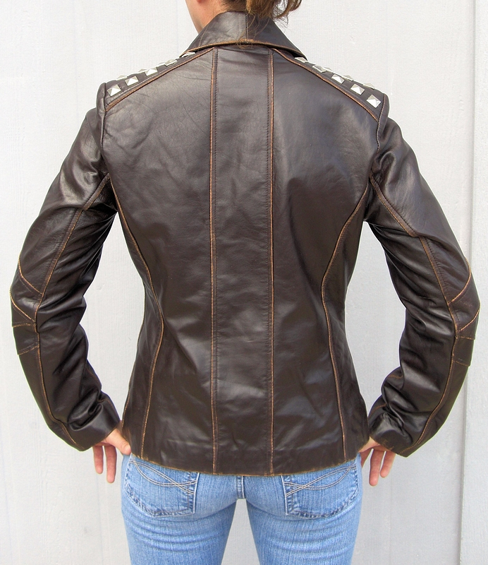 genuine lambskin fashion leather jacket this ladies leather jacket