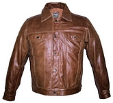 mens retro brown jacket