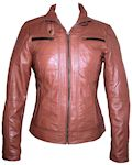 ladies European style leather jacket