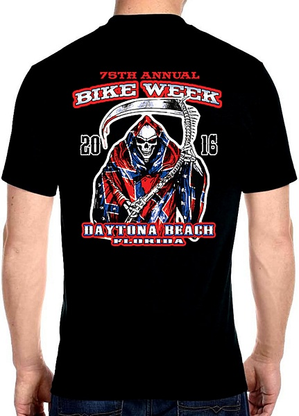 Daytona beach bike week 2016 confederate flag design tee shirt