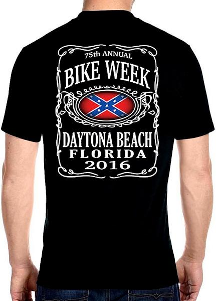 Daytona Beach 2016 Bike Week Confederate Flag tee shirts