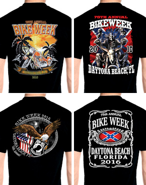 Mens Daytona Beach bike week 2016 tee shirts