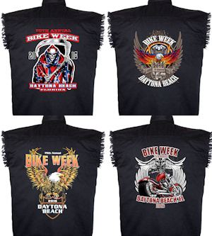 Mens Daytona Beach bike week 2016 denim cutoff biker shirts