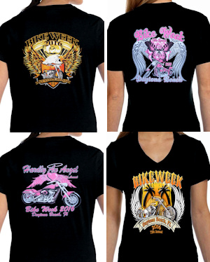 Ladies Daytona Beach bike week 2016 tee shirts