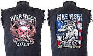 Mens Daytona Beach bike week 2015 denim shirts