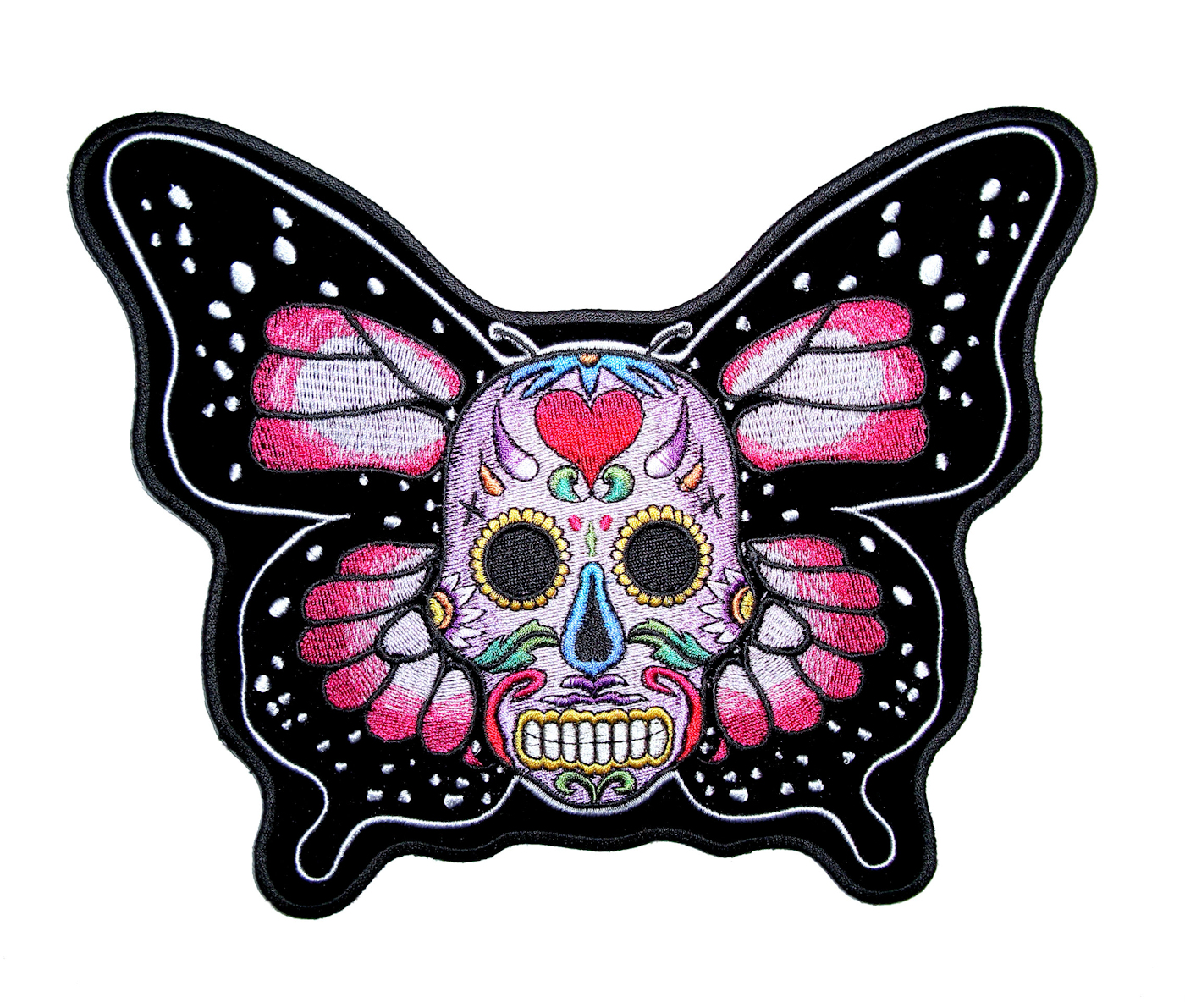 Lady Sugar Skull  EMBROIDERED IRON ON PATCH
