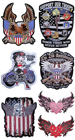 Quality biker patches