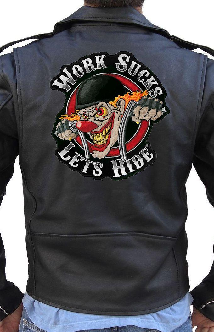 Wholesale custom back embroidery leather jacket patches women leather jacket
