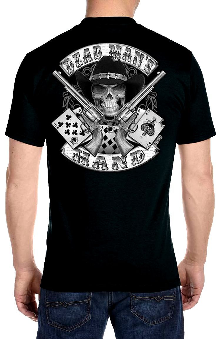 Hanes black t shirts xxl - This Buy It Now Auction Is For A Brand New Never Worn Men S Biker T Shirt If You Re A Biker You Ll Love This Great Looking Dead Mans Hand Design Biker