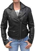 womans biker leather jacket