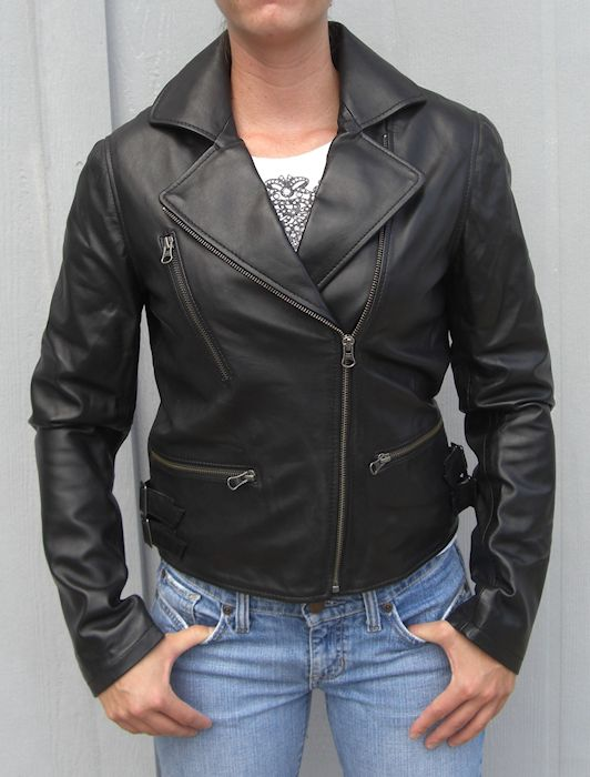Ladies fashion motorcycle jacket