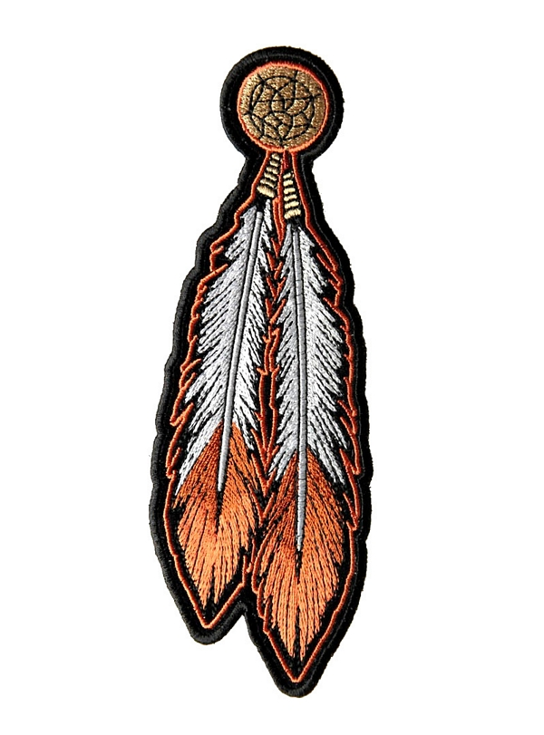 Feathers Embroidered Biker Patch FREE SHIP Native Indian End Of The Trail