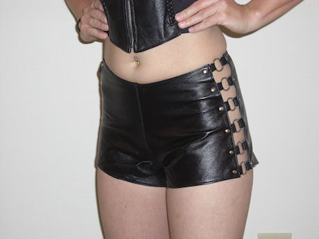 Ladies leather halters