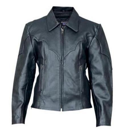 Ladies leather pattern leather motorcycle jacket