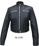 womans leather riding jacket