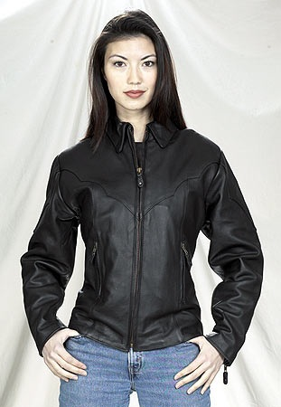 Ladies quality leather riding jacket
