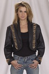 Woman's leather balero jacket