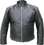 Racer leather jacket