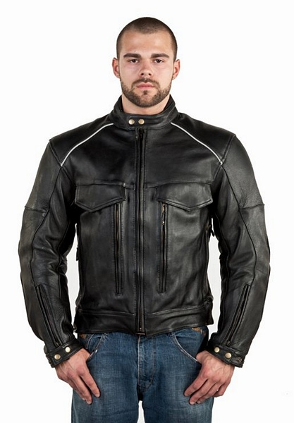 mens leather racer jacket