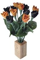 Biker leather roses