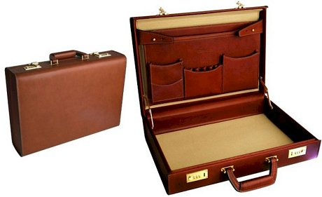 hard leather briefcase