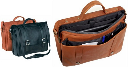 buying a leather briefcase