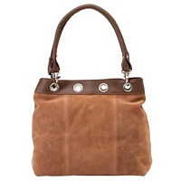 Suede leather handbags and purses