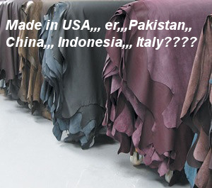 where do leather hides come from?