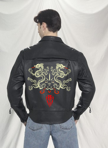 getting an airbrush design on your leather jacket