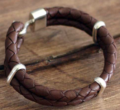 leather jewelry and bracelets