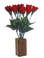 Red leather roses