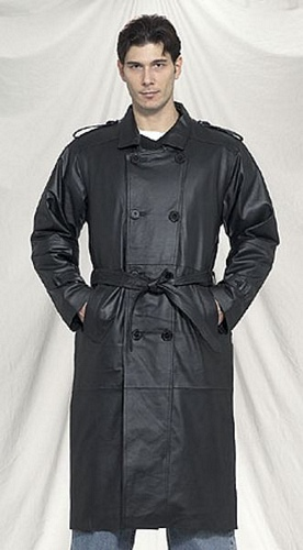 mens leather trenchcoat