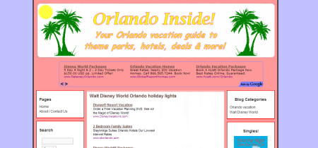 Walt Disney World Orlando vacation site