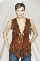 ladies suede leather vest