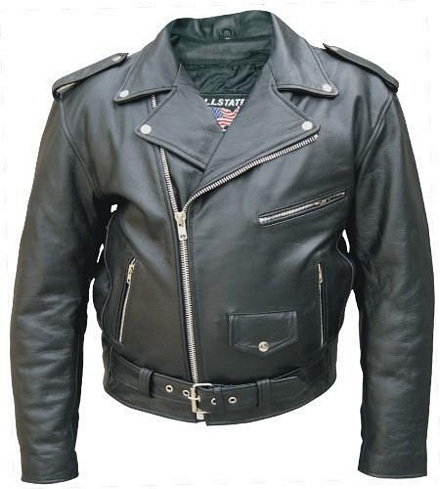 mens basic motorcycle leather jacket