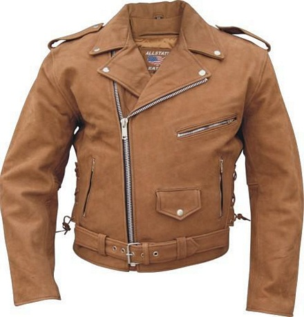mens brown motorcycle leather jacket