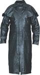 mens black buffalo leather duster jacket