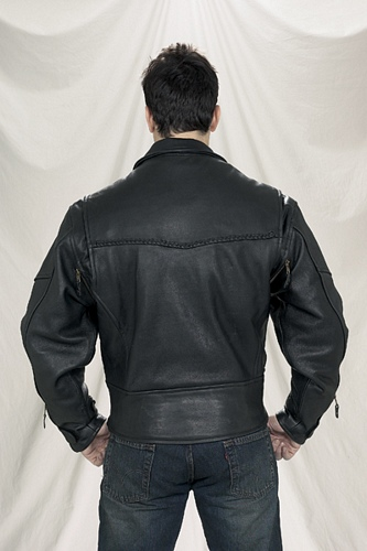 mens pistol pete motorcycle leather jacket