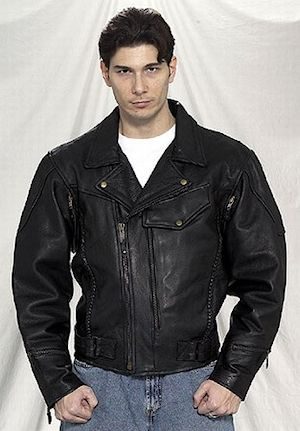 Mens Pistol Pete leather jacket