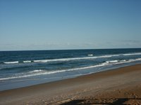 empty beach at Daytona Beach