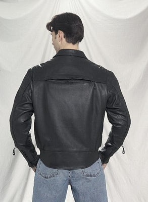 leather motorcycle jacket air vents