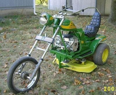 motorcycle lawn mower