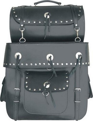 leather motorcycle travel / luggage bags