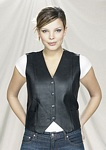 Ladies plain leather vest