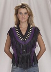 Ladies purple leather vest