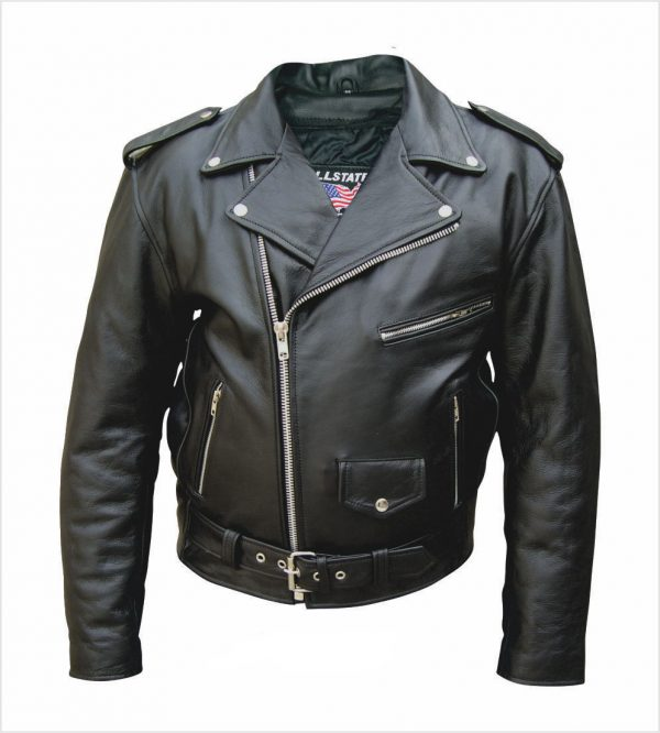 split grain cowhide leather jacket