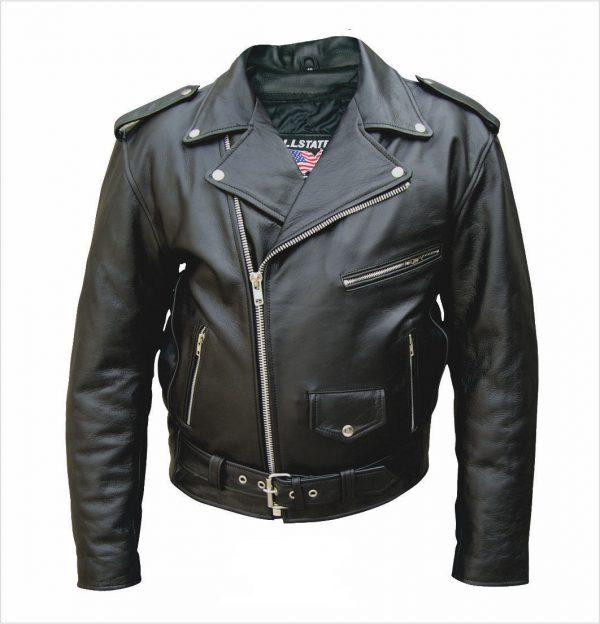 men's tall leather buffalo hide jacket