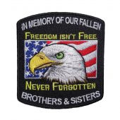 Memory of our fallen military patch