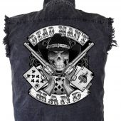 Mens Denim Cutoff Biker Shirts