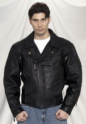 mens pistol pete style leather jacket
